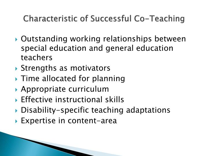 Characteristic of Successful Co-Teaching