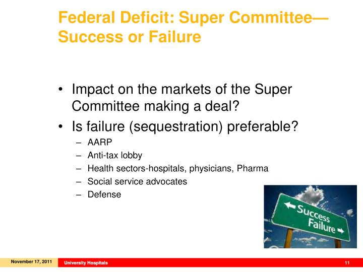 Federal Deficit: Super Committee—Success or Failure