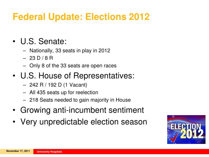 Federal Update: Elections 2012