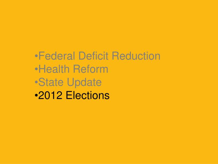 Federal Deficit Reduction