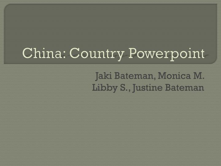 china country powerpoint n.