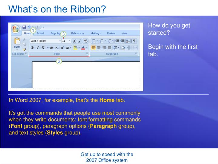 What s on the ribbon1