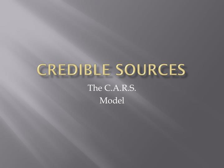 credible sources n.