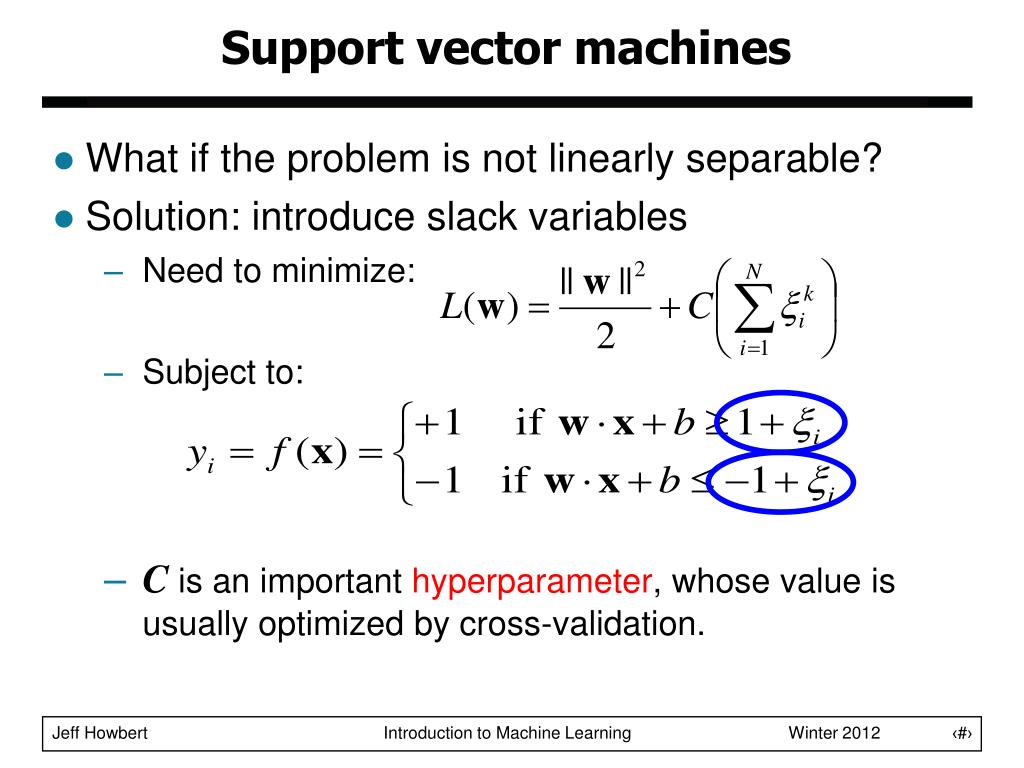PPT - Classification / Regression Support Vector Machines
