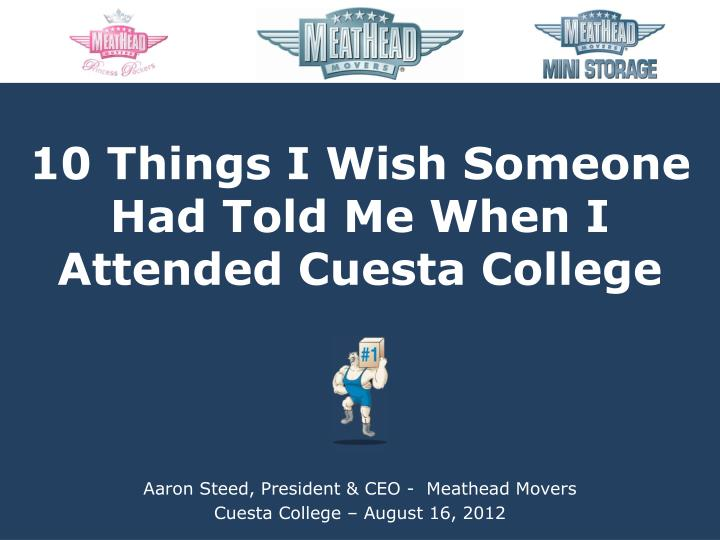 aaron steed president ceo meathead movers cuest a college august 16 2012 n.