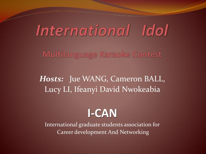 international idol multilanguage karaoke contest n.