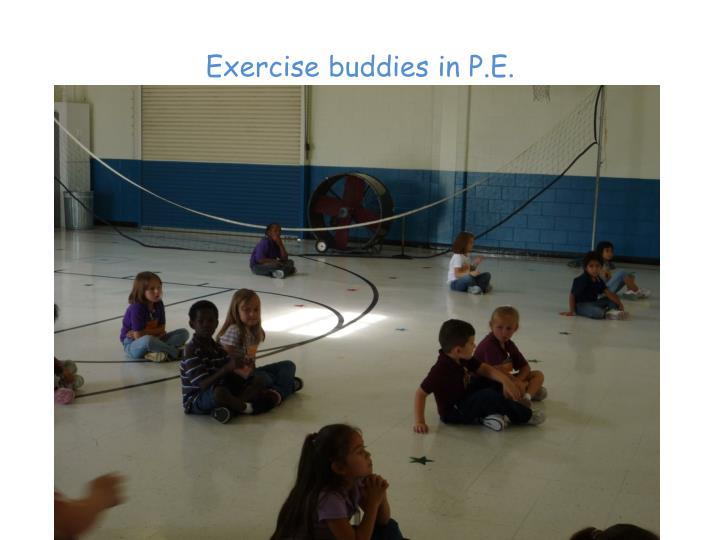 Exercise buddies in P.E.