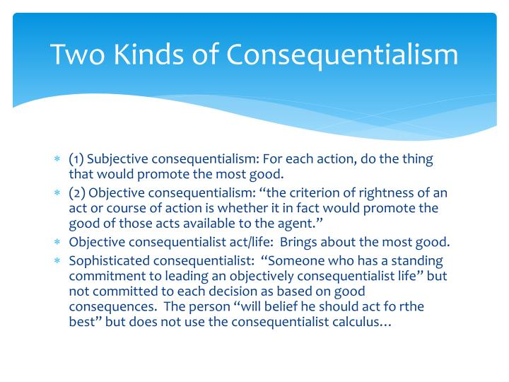 consequentialism thesis