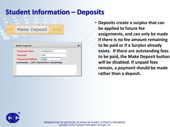 Deposits create a