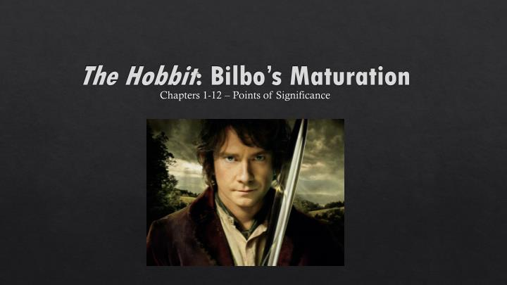 the hobbit bilbo s maturation n.
