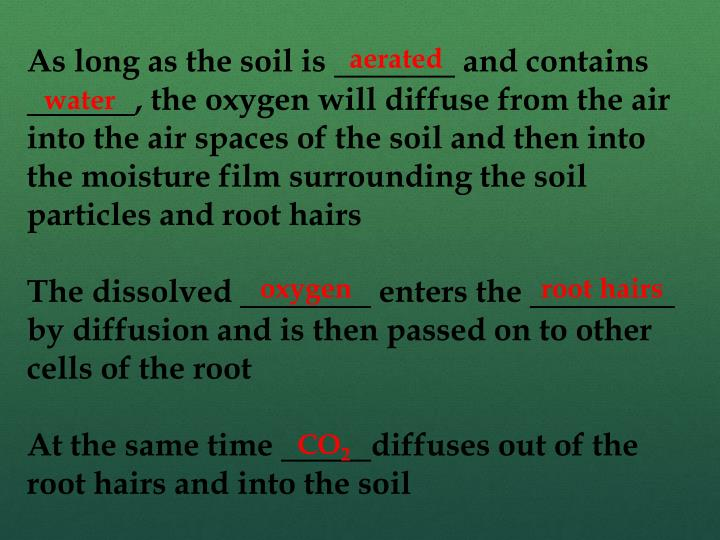 As long as the soil is
