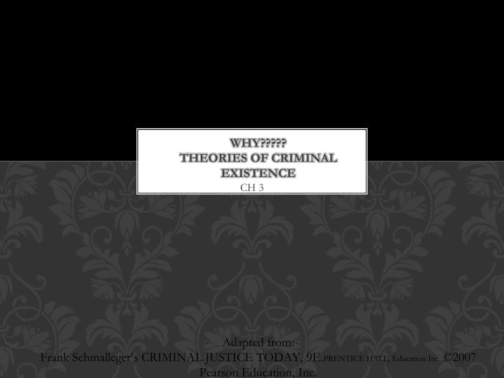 why theories of criminal existence n.