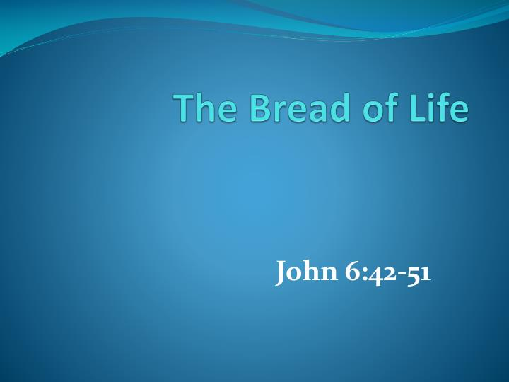 the bread of life n.