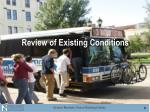 review of existing conditions