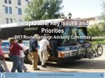 study goals key issues and priorities brt route redesign advisory committee