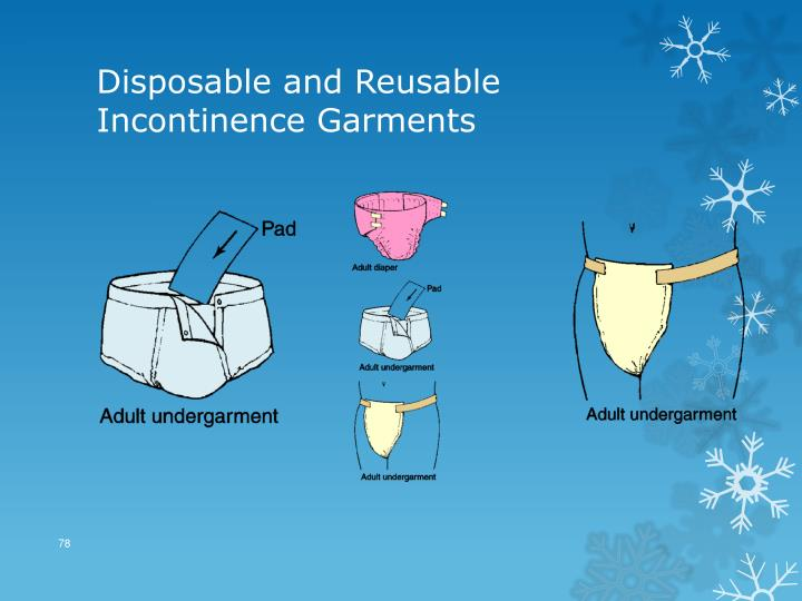Disposable and Reusable Incontinence Garments