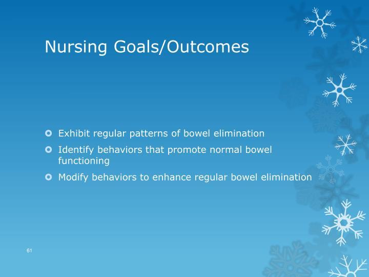 Nursing Goals/Outcomes