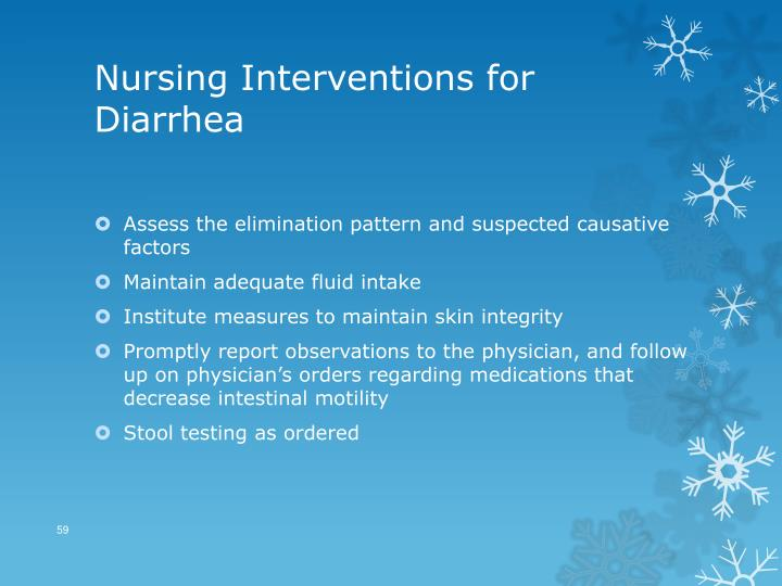 Nursing Interventions for Diarrhea