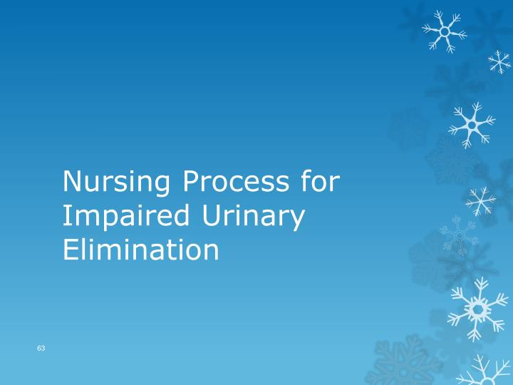 Nursing Process for Impaired Urinary Elimination