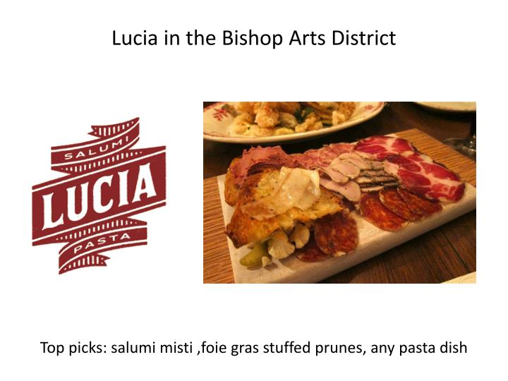 Lucia in the Bishop Arts District