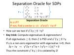 separation oracle for sdps1