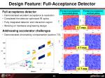 design feature full acceptance detector