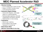 meic planned accelerator r d