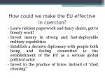 how could we make the eu effective in coercion