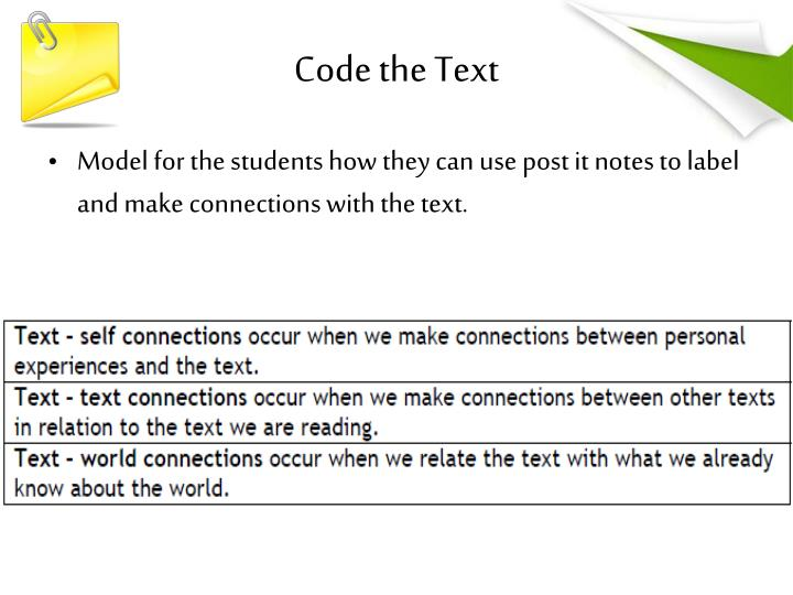 Code the Text