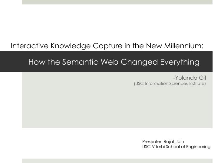 how the semantic web changed everything n.