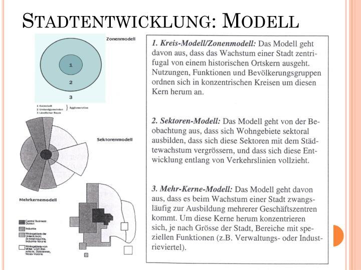 Stadtentwicklung modell1