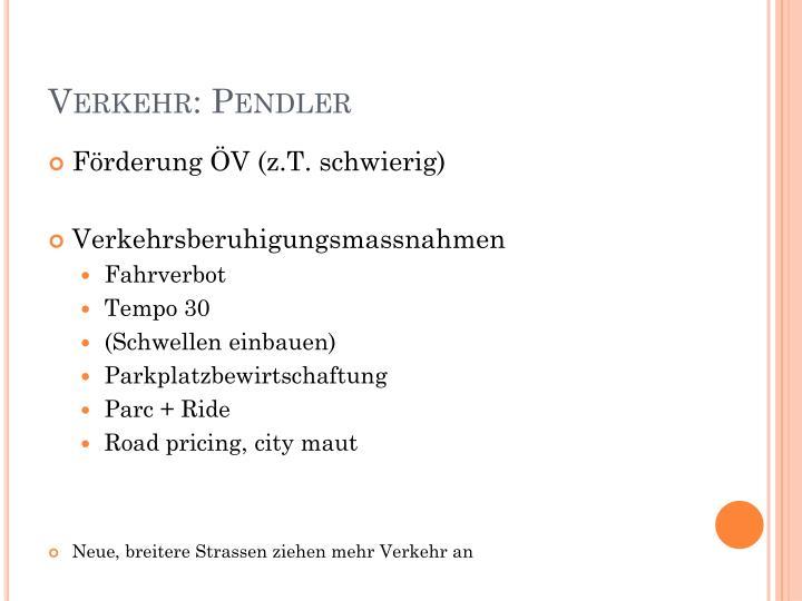 Verkehr: Pendler