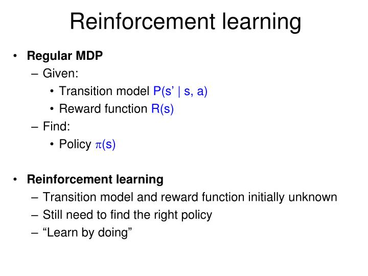 reinforcement learning n.