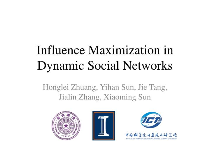 influence maximization in dynamic social networks n.