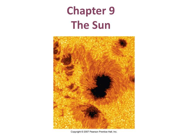 chapter 9 the sun n.