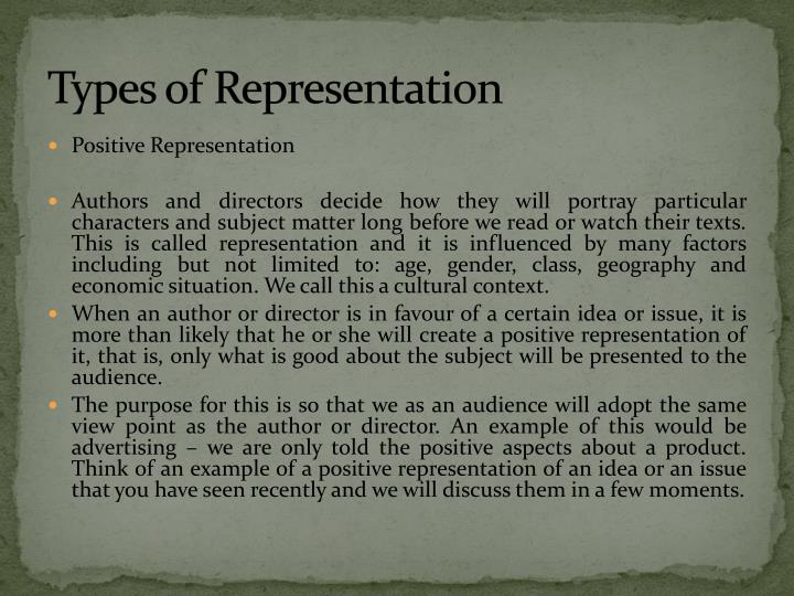 Types of representation