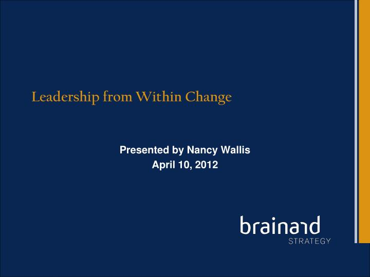 leadership from within change n.