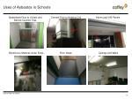 uses of asbestos in schools