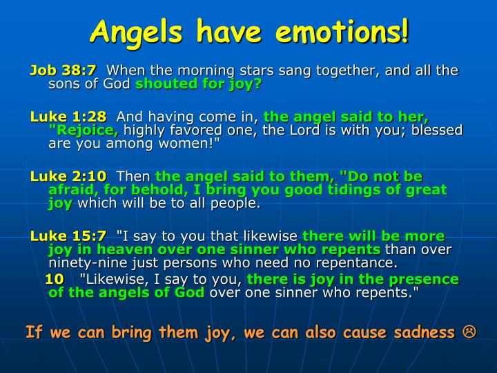 Angels have emotions!
