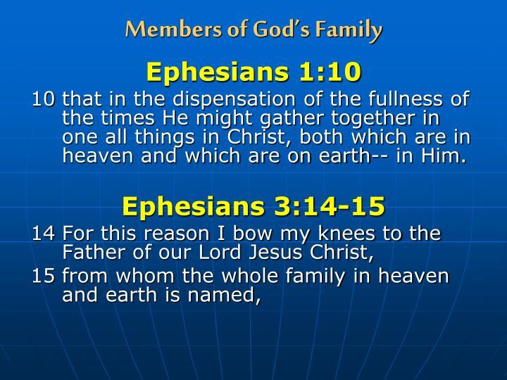 Members of God's Family