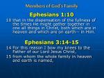 members of god s family