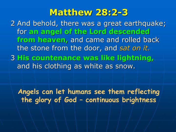 Matthew 28:2-3