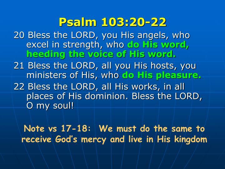 Psalm 103:20-22
