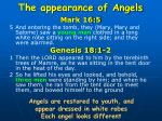 the appearance of angels