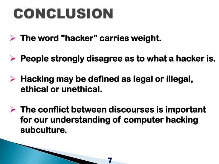 ethical hacking conclusion