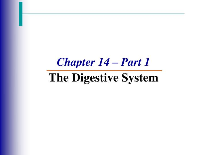 chapter 14 part 1 the digestive system n.