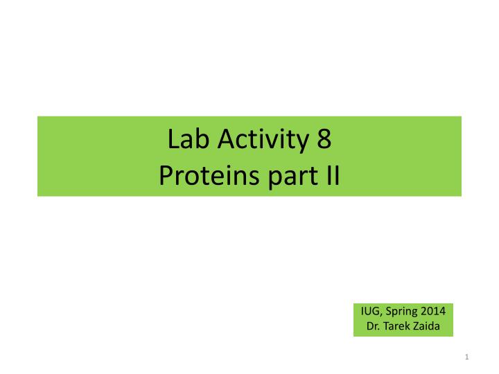 lab activity 8 proteins part ii
