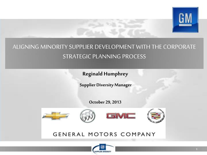 aligning minority supplier development with the corporate strategic planning process n.