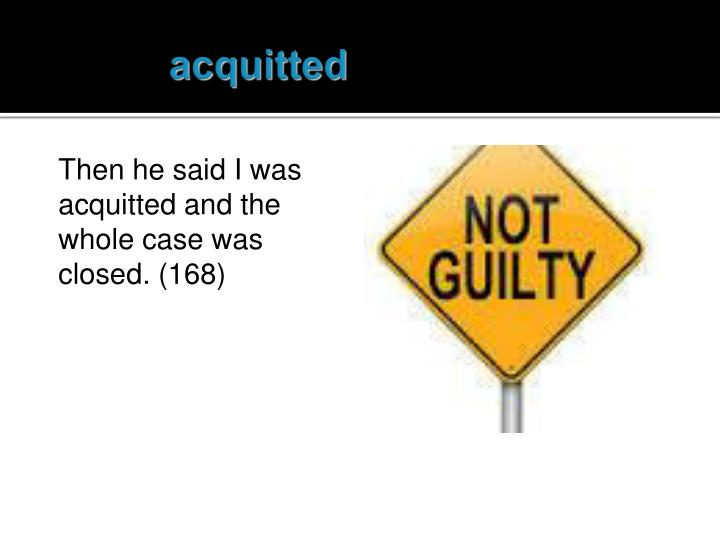 acquitted