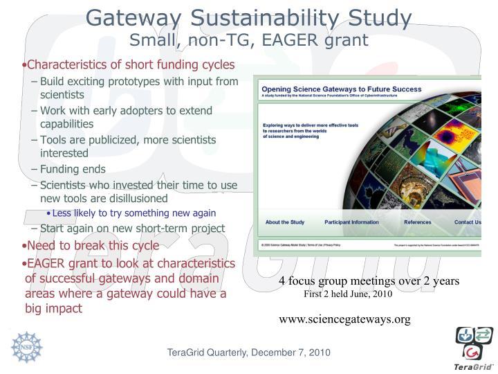 Gateway Sustainability Study